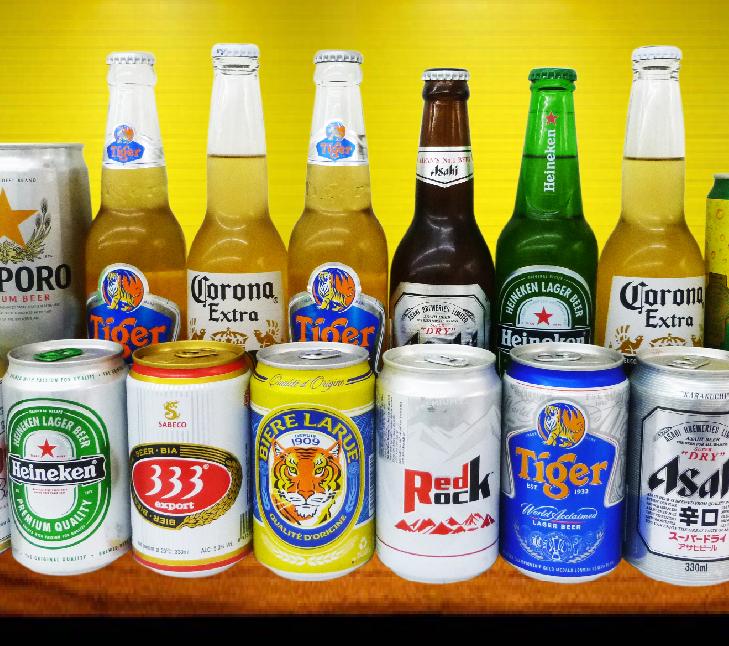 các loại bia có rượu có trên thị trường