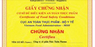 chứng nhận vệ sinh an toàn thực phẩm quận 12